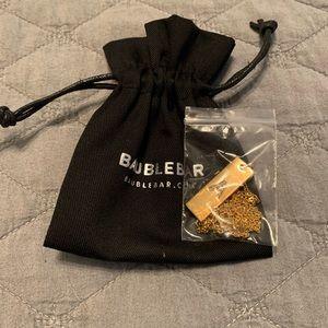 NWT Baublebar A gold bar necklace